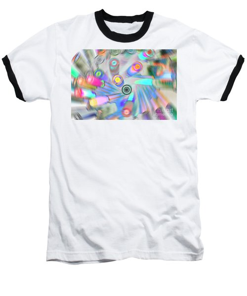 Baseball T-Shirt featuring the digital art Colourful Pens by Wendy Wilton