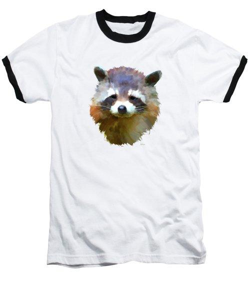 Colourful Raccoon Baseball T-Shirt by Bamalam  Photography