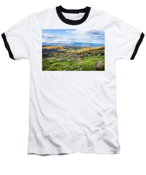 Colourful Undulating Irish Landscape In Kerry  Baseball T-Shirt by Semmick Photo