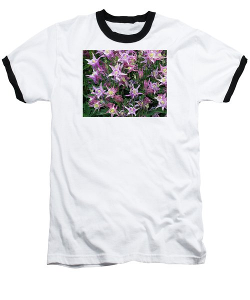Baseball T-Shirt featuring the photograph Columbine Splendor by Lynda Lehmann