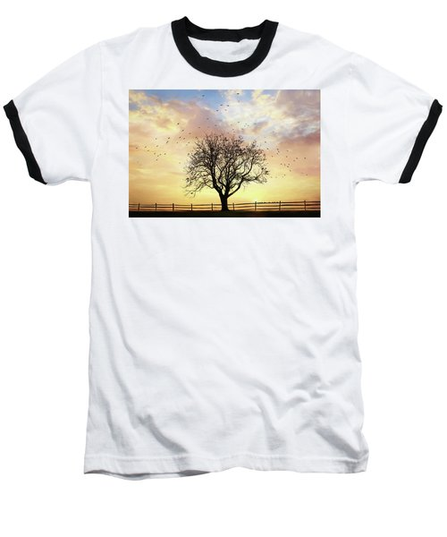 Baseball T-Shirt featuring the photograph Come Fly Away by Lori Deiter