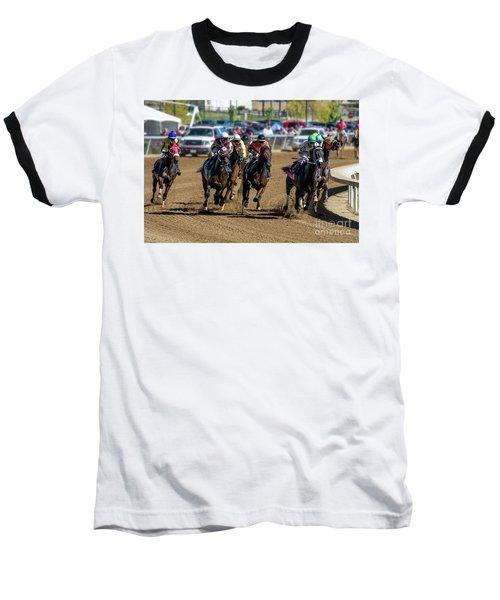 Coming Around The Turn Baseball T-Shirt