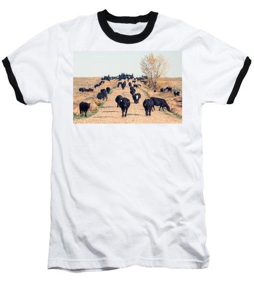 Coming Down The Road Baseball T-Shirt
