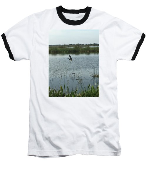 Baseball T-Shirt featuring the photograph Coming In For A Landing by Kay Gilley