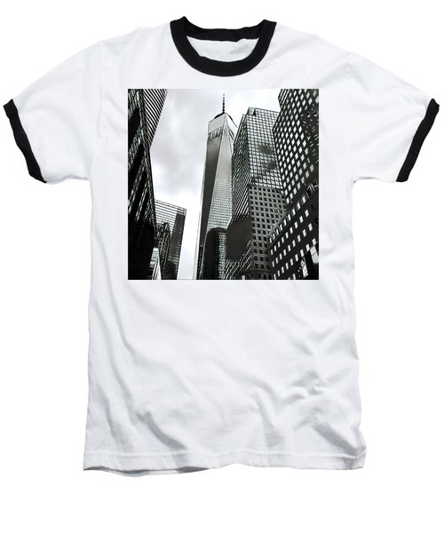 Commuters' View Of 1 World Trade Center Baseball T-Shirt
