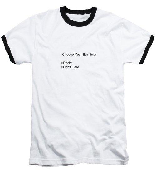 Conceptual 2d Survey No Race Baseball T-Shirt by Keshava Shukla