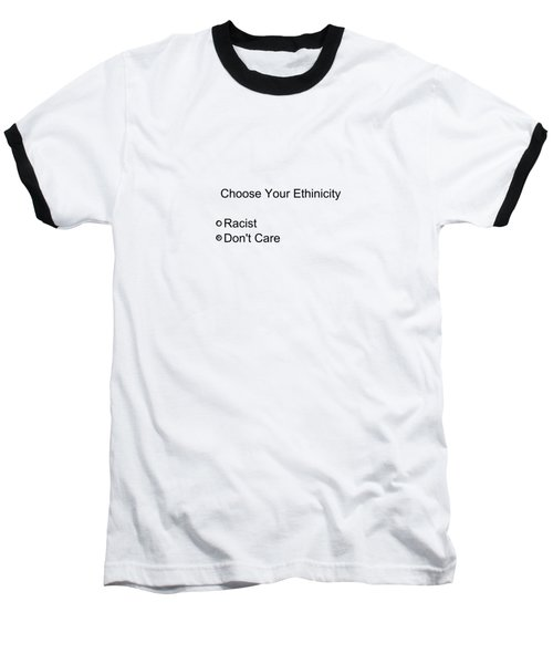 Conceptual 2d Survey No Race Baseball T-Shirt