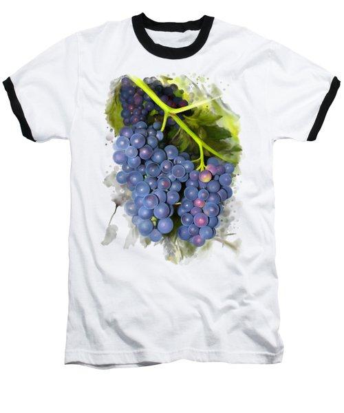 Concord Grape Baseball T-Shirt by Ivana Westin