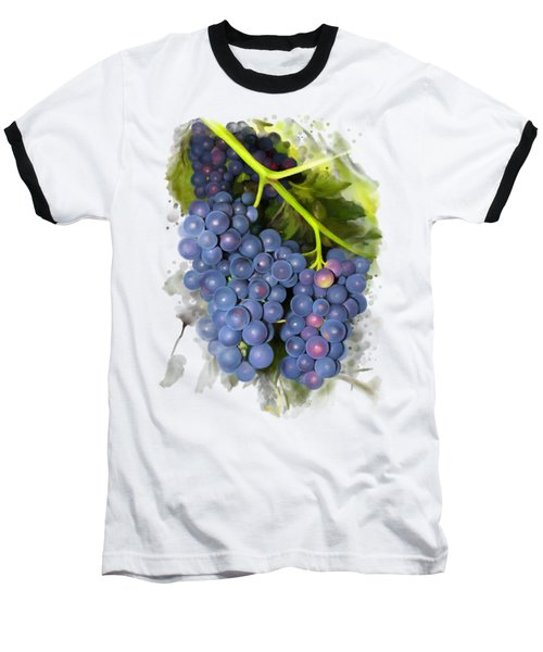 Baseball T-Shirt featuring the painting Concord Grape by Ivana Westin