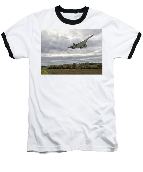Concorde - High Speed Pass Baseball T-Shirt by Paul Gulliver