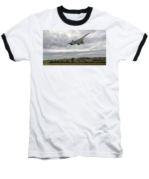Concorde - High Speed Pass_2 Baseball T-Shirt by Paul Gulliver