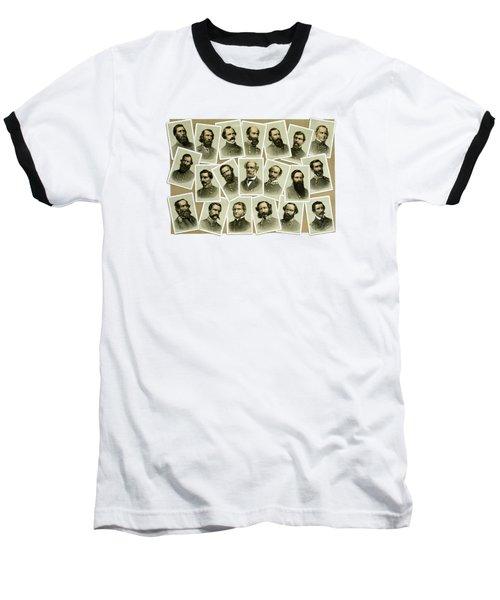 Confederate Commanders Of The Civil War Baseball T-Shirt