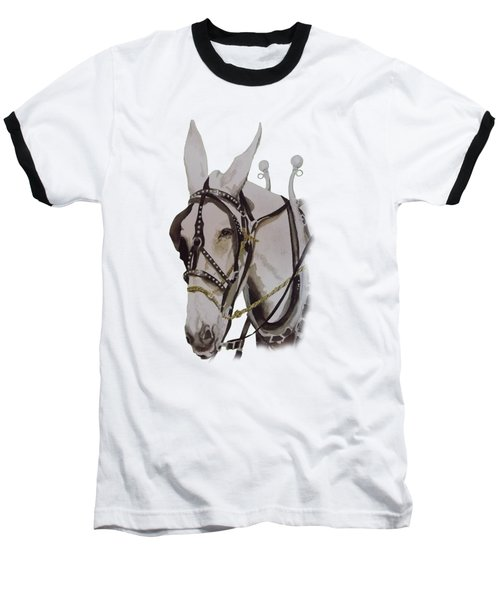 Connie The Mule Baseball T-Shirt by Gary Thomas