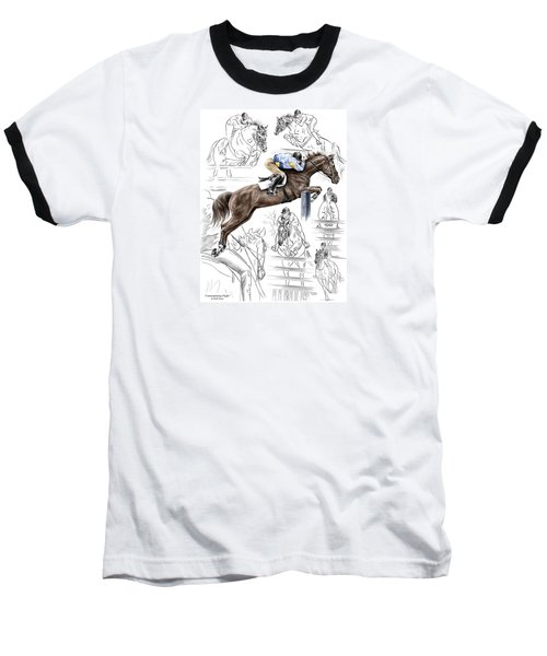 Contemplating Flight - Horse Jumper Print Color Tinted Baseball T-Shirt