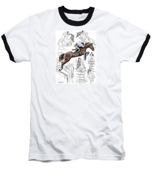 Contemplating Flight - Horse Jumper Print Color Tinted Baseball T-Shirt