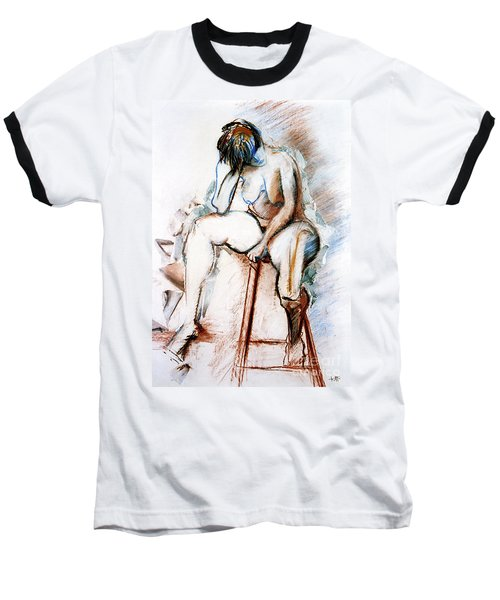 Contemplation - Nude On A Stool Baseball T-Shirt
