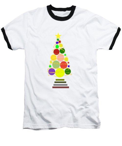 Contemporary Christmas Baseball T-Shirt