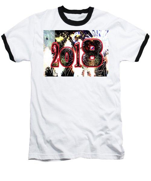 Contemporary Fireworks 2018 Cool Modern Art Baseball T-Shirt