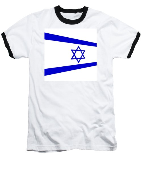 Contemporary Flag Of Israel Baseball T-Shirt