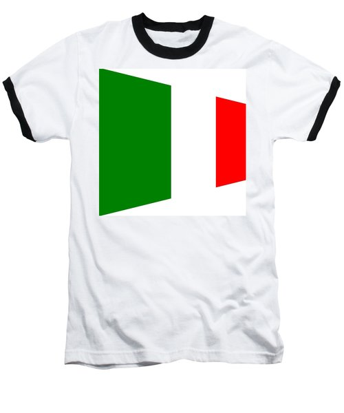 contemporary Italian Flag Baseball T-Shirt