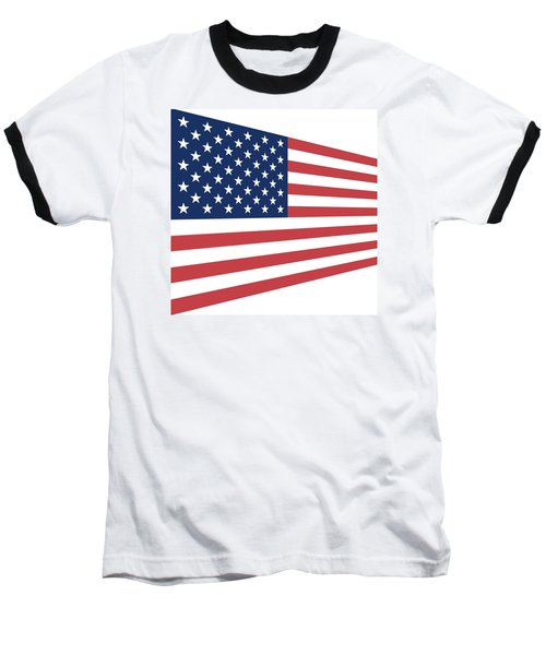 Contemporaryusa Flag Baseball T-Shirt