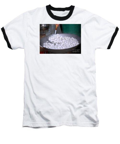 Cooking Chinese Fish Balls Baseball T-Shirt by Yali Shi