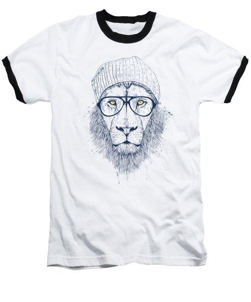 Cool Lion Baseball T-Shirt by Balazs Solti