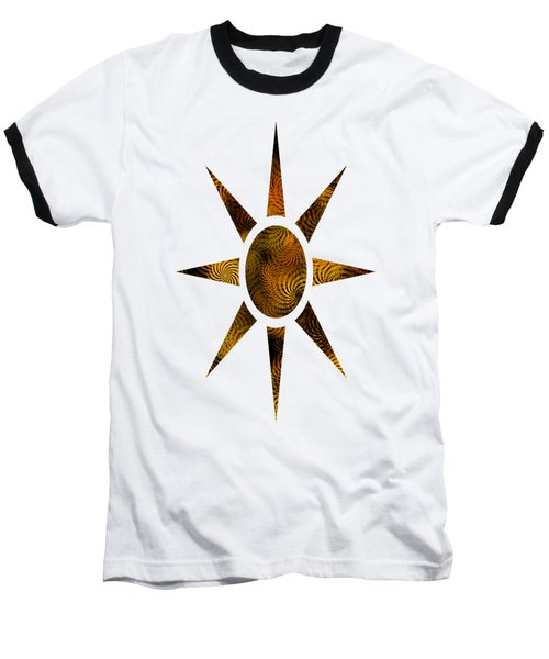 Copper Spirals Abstract Square Baseball T-Shirt