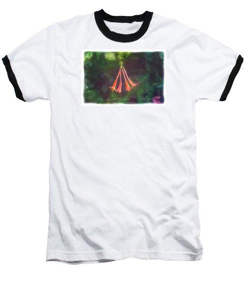 Coral Honeysuckle Baseball T-Shirt