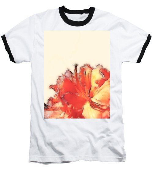 Coral Rhododendron Baseball T-Shirt by Lynn Bolt