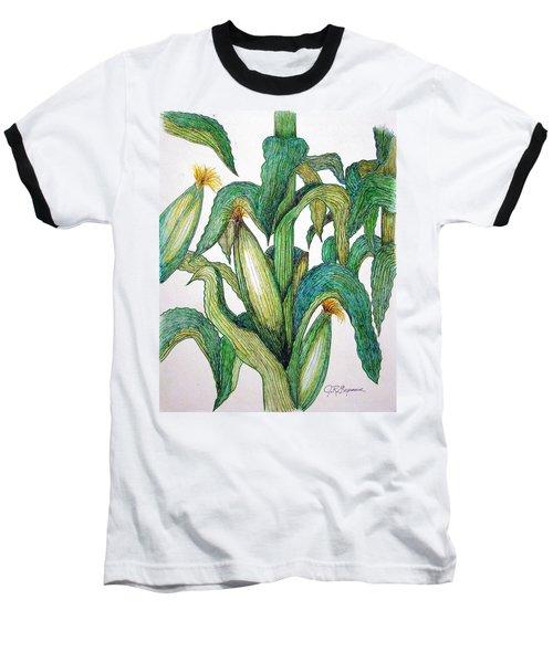 Corn And Stalk Baseball T-Shirt