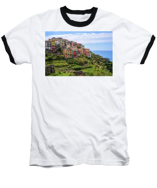 Corniglia Cinque Terre Italy Baseball T-Shirt