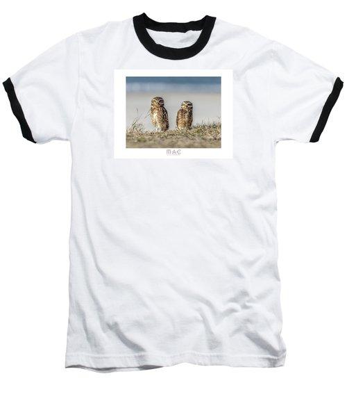 Coruja Buraqueira-praia Do Forte Baseball T-Shirt