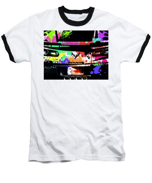 Corvette Pop Art 2 Baseball T-Shirt