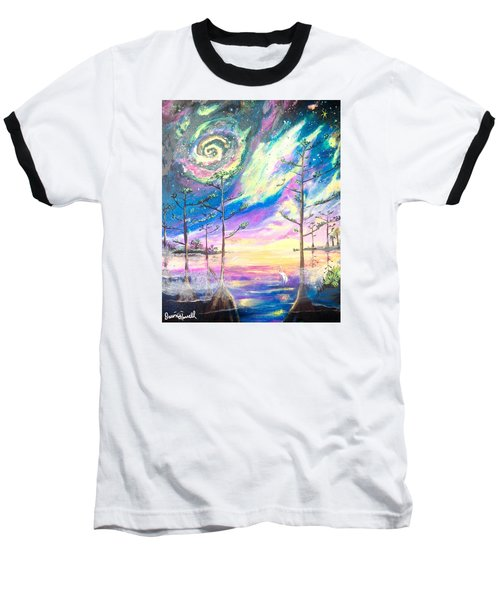 Baseball T-Shirt featuring the painting Cosmic Florida by Dawn Harrell