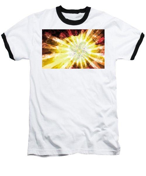 Cosmic Solar Flower Fern Flare 2 Baseball T-Shirt