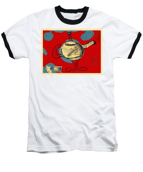 Cosmic Tea Time Baseball T-Shirt by Jason Nicholas