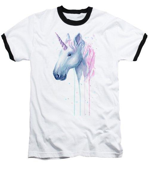 Cotton Candy Unicorn Baseball T-Shirt
