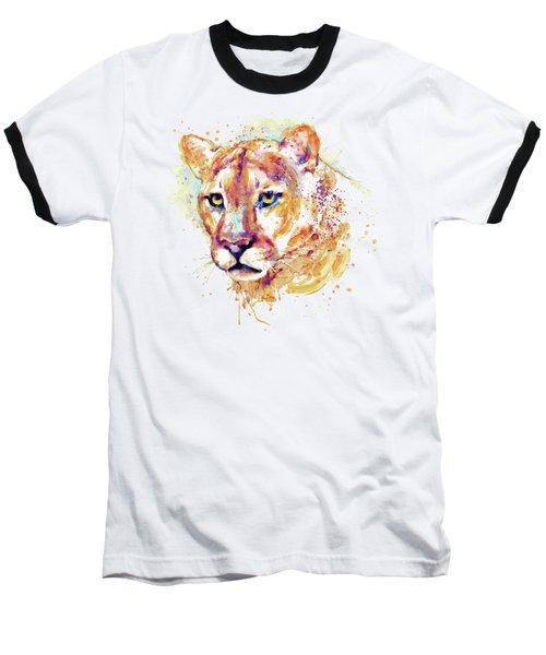 Cougar Head Baseball T-Shirt