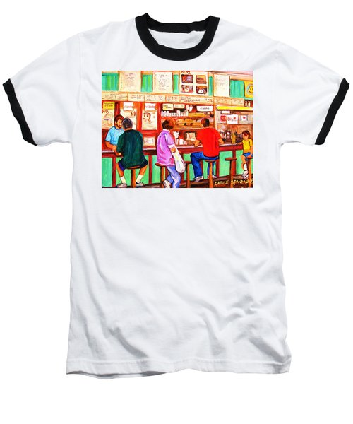 Baseball T-Shirt featuring the painting Counter Culture by Carole Spandau