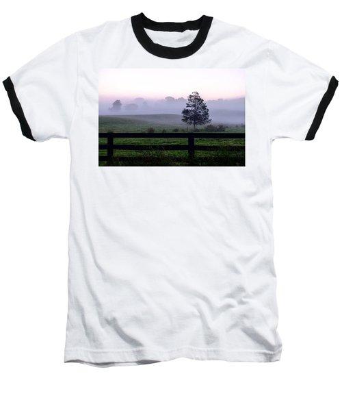Country Morning Fog Baseball T-Shirt