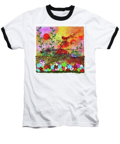 Country Sunrise Baseball T-Shirt by Donna Blackhall