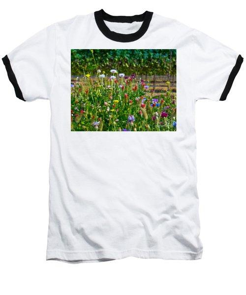Country Wildflowers II Baseball T-Shirt