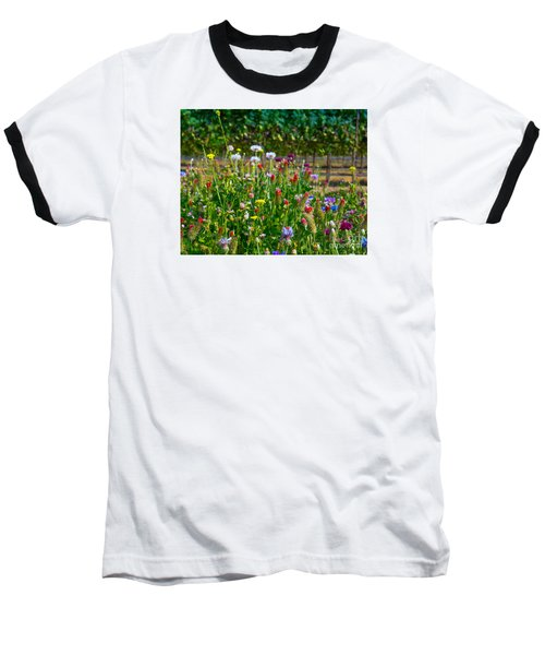 Country Wildflowers II Baseball T-Shirt