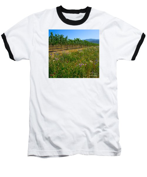 Country Wildflowers V Baseball T-Shirt