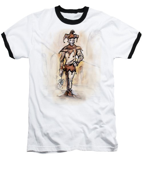 Baseball T-Shirt featuring the painting Court Jester by Kevin Middleton