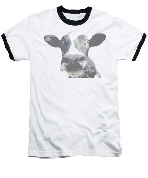 Cow - Cross Hatching Baseball T-Shirt