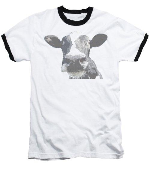 Cow - Cross Hatching Baseball T-Shirt