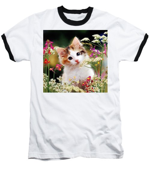 Cow Parsley Cat Baseball T-Shirt