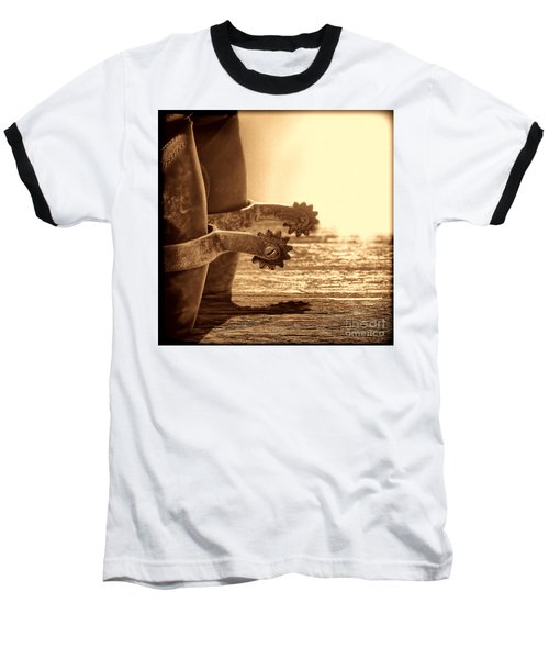 Cowboy Boots And Riding Spurs Baseball T-Shirt